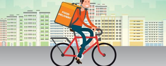 Food Delivered For Bike Riders