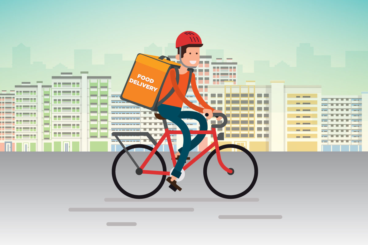 food delivery / bike